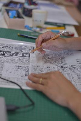 記事はひとつずつ作って手作りで貼り合わせていきます。