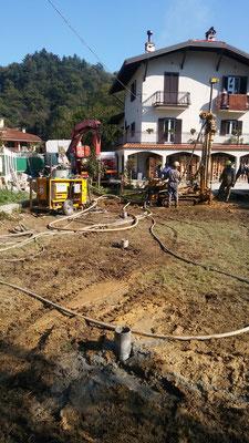 Realizzazione micropali di fondazione per costruzione nuova tettoia _ CN _ Piemonte