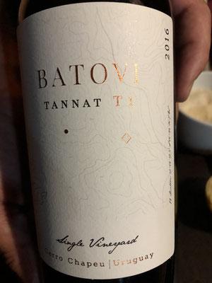 Batovi, tannat van perceel T1, 2016, (ex A) verry young: orange peel, dark chocolate, black fruit.. TOP A