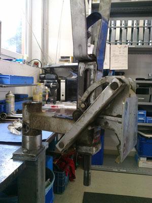 Reparatur defekter Schleppvorrichtung