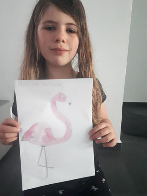 Lavinias Wunschtier ist ein Flamingo!