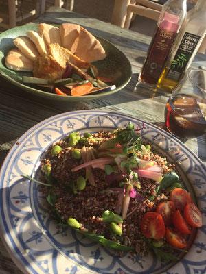 leckeres vegetarisches/veganes Essen während der Yoga Ferien in Ibiza 2109