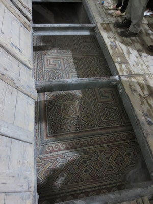 Part of original Constantinian basilica mosaic