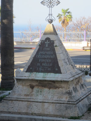 Haifa, Carmelite monastery of Stella maris - memorial to Napoleonic soldiers