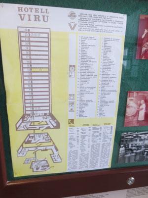 Plan of hotel