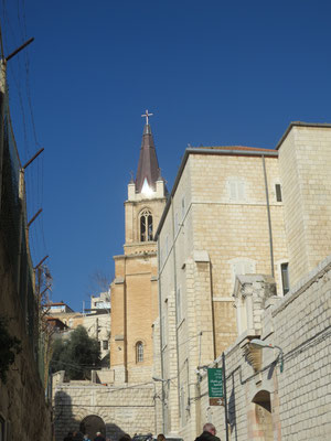 Heading toward Christ Church, Nazareth, the Anglican church founded in 1869