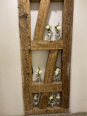 Blumenvasen zum Hängen für Kirche oder freie Trauung