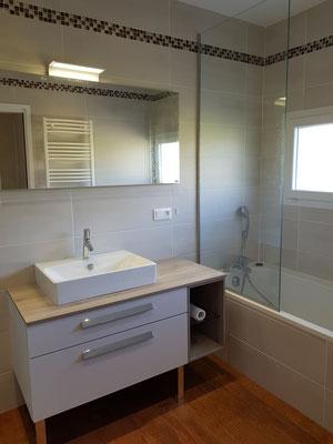 Douche à l'italienne des salles de bains clé en main à Grenoble     TEL.06-42-67-25-52 ROMI PLOMBERIE