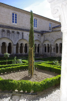 the cloister of sainte trophime the cathedral in Arles