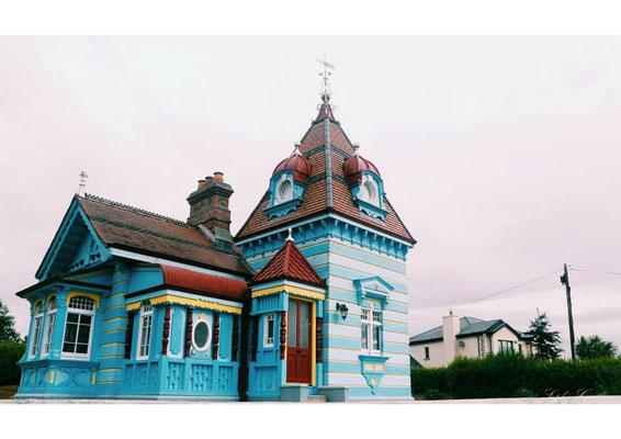 Irlande maison bleue
