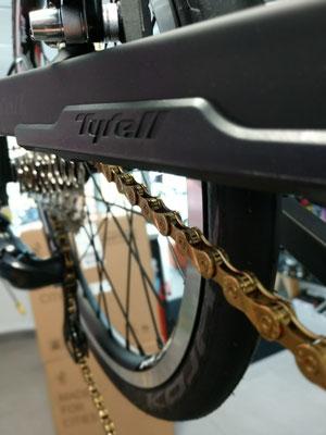 Tyrell Ive Gold & Black Klapprad ULm