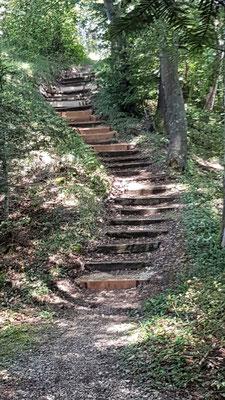 Endresultat Baustelle 2: sanierte Treppe zum Chänzeli