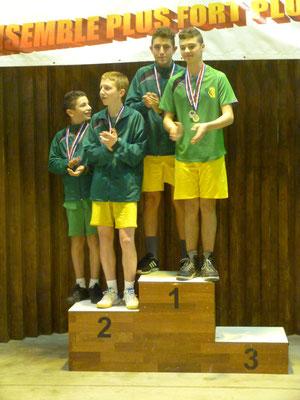 Le podium du double; Cyril et Dédé, troisièmes, avaient dû partir