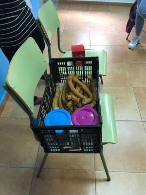 Churros con chocolate essen
