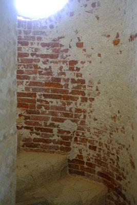 Das Treppenhaus des alten Leuchtturmes