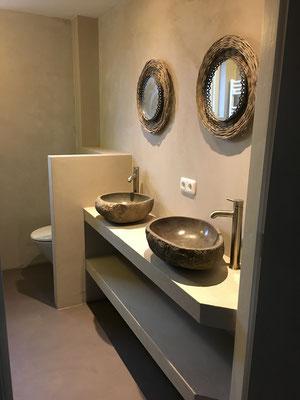 Beton ciré Badezimmer #Interior #Wohnen #Style