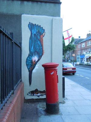 Kingfisher, The Magic Garden, Battersea, London, 2010