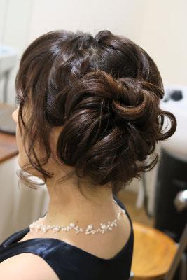 銀座、編み込みヘアセット