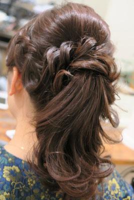 洋装ポニーテール、銀座アレンジヘア