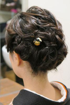 銀座和装ヘア、綺麗目カジュアルアップヘア
