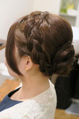 銀座 編み込みヘアセット