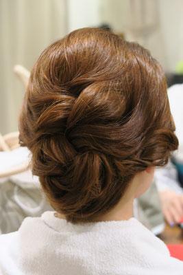 銀座 和装にも似合うヘアセット