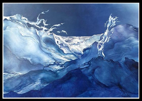"""""""Nächtliche See""""   70x100cm, Öl/MP, 2005 -  Preis auf Anfrage"""