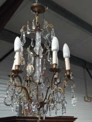 ancien lustre à pampilles 6 branches fonctionne