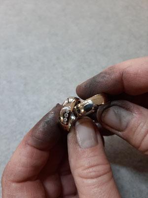 Die polierten Ringe