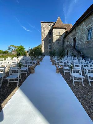 Cérémonie Laïque au Château de Born en Nouvelle Aquitaine