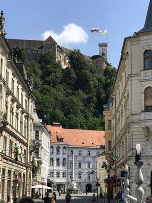 Ljubljana Sehenswürdigkeiten Aufstieg zur Burg