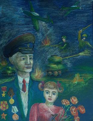 Чернецкая Софья,13лет, Воспоминания, масл. пастель