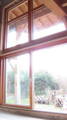 baie vitrée coulissante sud