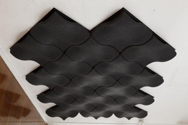 ecoustic moov - Auch als Deckenelement beeindrucken einfach zu installieren. Die Alternative zum Deckensegel.