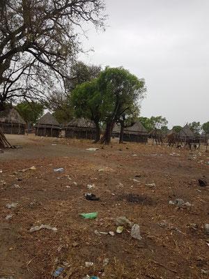 Village près de la frontière du Soudan