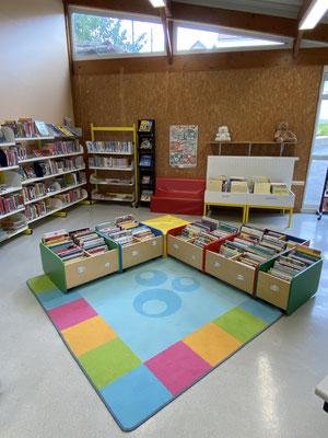 L'espace lecture pour les plus jeunes