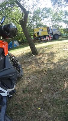 Laden auf dem Campingplatz