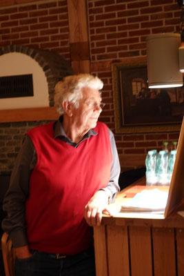 Der alljährliche Gastgeber des legendären Sommerfestes Horst Kistenbrügger.