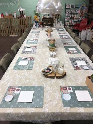 De tafel staat al klaar