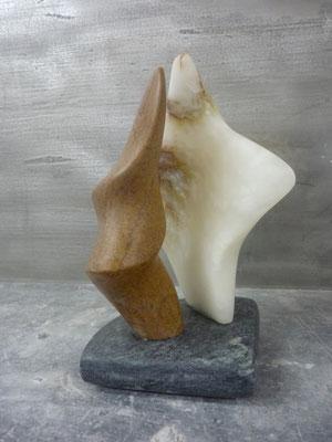 >Tanz<, Alabaster, Speckstein, 2015, H 25 cm