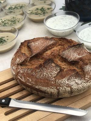 un vrai pain au levain de blé