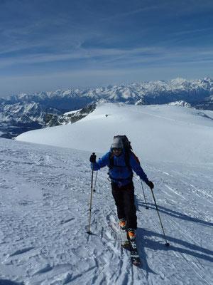 Am Aufstieg zum Breithorn - nur noch wenige Meter!