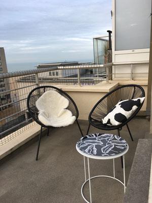 la terrasse de l'appartement à Ostende