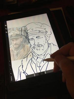 Clemens Schick Serie Das Boot Karikatur Copyright by Tanja Graumann