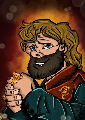 Peter Dinklage spielt Tyrion Lannister Karikatur Copyright by Tanja Graumann
