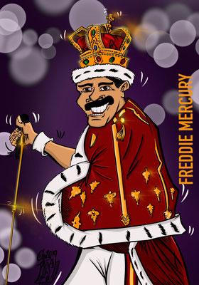 Freddie Mercury Karikatur Copyright by Tanja Graumann