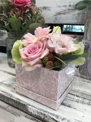 Blumenbox mit frischen Schnittblumen