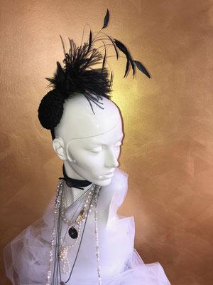 Hutmacherei Anja Kaninck / Headpiece · Fascinator · Brautmode · Hochzeitsmode · Hochzeit · Braut / Federgesteck · Kopfschmuck · Hutdesign / Abendmode · Ascot · Derby · Pferderennen / JGA ·  Junggesellinnenabschied / Hamburg Bargteheide