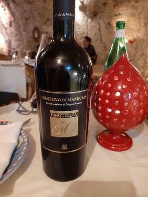 Primito di Manduria at Risto Caffe Cavour
