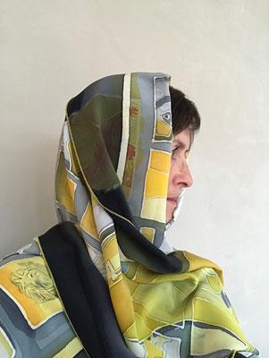 Seidenfoulard, farbreise.ch, Marianne Iten Thürig